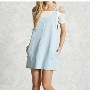 Forever 21 Overall Dress Sz S